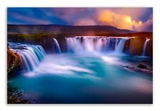 Gooafoss Waterfall Canvas Iceland Landscape Canvas Wall Art Picture Home Decor