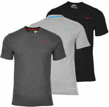 Men`s NIKE T-Shirt Embroidered Swoosh Tee Sports Gym Fitness Short Sleeve Shirt