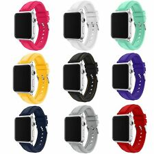 Replacement Soft Silicone Bracelet Band Strap For Apple Watch Series 2/1 42/38mm