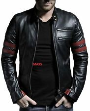 Fashion Jacket Fight Club Genuine Leather CE Approved Armored Protection MAX5