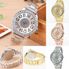 Luxury Women Diamond Rhinestone Quartz Analog Watch Stainless Steel Wristwatch