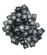 A-Z Black Plastic Scrabble Tiles Letters Value For Art Craft Alphabets Toy UK