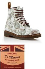 Dr. Martens Women's MADE IN ENGLAND 1460 Grey Floral Lace-Up Boots. Size UK 9