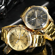 Men's Date Watch Waterproof Stainless Steel Quartz Analog Business Wrist Watches