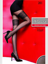 FIORE COLLANT GOLDEN LINE TIGHTS TULLIA 20 DENARI RIGHE E RICAMO