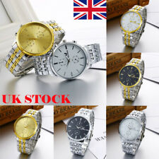 Fashion Luxury Men's Stainless Steel Watch Analog Quartz Business Wrist Watch