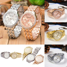 Women Bling Crystal Rhinestone Watch Quartz Analog Stainless Steel Wrist Watch