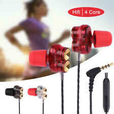 HIFI In Ear Dynamic Super Bass Stereo Music Earphone Headset Headphone with Mic