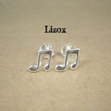 Sterling Silver Music Note Ear Studs- Tiny Music Post Earrings Fashion Jewellery