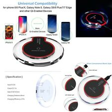 New QI Wireless Charger Charging Pad Plate For Samsung Galaxy S6, S7 Edge,S8,S9