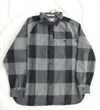 NEW LEVIS MENS LONG SLEEVED BLACK GREY CHECK COTTON SHIRT OVERSHIRT SIZE S