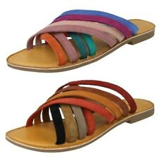 Leather Collection Mujer Multicolor Tiras Sandalias