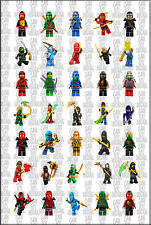 105 -140 Lego Ninjago Heroes 3.7cm reward stickers labels collection Kids party