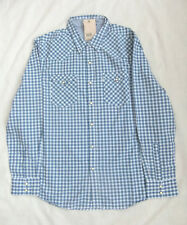 NEW LEVIS  BARSTOW WESTERN STYLE MENS LONG SLEEVED BLUE CHECK SHIRT SIZE XL