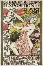 84571 Vintage 1894 FrenchNouveau Exhibition Decor WALL PRINT POSTER FR