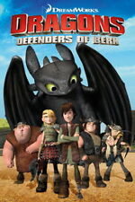 91727 DRAGONS DEFENDERS OF BERK TV SHOW THE GANG Decor WALL PRINT POSTER FR