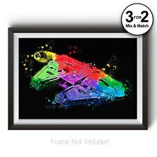 Solo A Star Wars Story Millennium falcon Movie Poster - Abstract Painting Prints