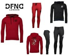 Mens DFND London Stylish Hoody and Joggers Back Embroidered Design