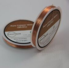 0.22mm (31 AWG) - Pure Copper Wire (99.9% Copper) (Cu)  - Various Spools