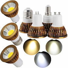 AUSTRALIA LED Regulable COB Bombilla foco GU10/MR16/ gu5.3/E27/E14 Blanco