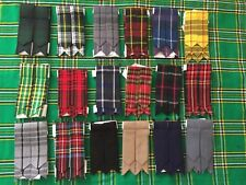 Scottish Kilt Sock Flashes various Tartans/Highland Kilt Hose Flashes