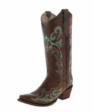 Circle G by Corral Boots L5193 Brown Turquoise Lederstiefel für Damen Braun