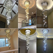 Modern Staircase Luxury Luxury Smoky Gray Crystal Chandelier Light Fixture