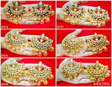 Daphne Gold plated Ethnic Traditional Handmade Pearls Jhumki For Women