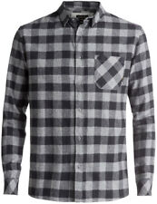 Quiksilver Motherfly Flannel Long Sleeve Shirt in Tarmac