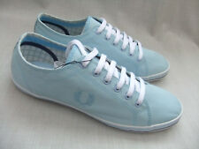 NEW FRED PERRY B114 KINGSTON MENS LAPIS BLUE TWILL  CANVAS TRAINERS SIZE 7 EU 41