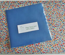 "25 Blue Cotton Tana Lawn Fabric Patchwork 5"" Squares"
