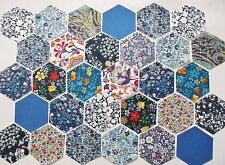"Liberty Cotton Tana Lawn Fabric Patchwork 3"" Hexagons- Pack of 50 or 60"