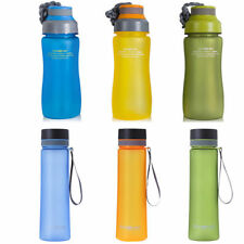 WATER BOTTLE SPORTS DRINKS FITNESS HYDRATION HIKING CYCLING BPA FREE 600ML
