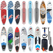 F2 SUP STAND UP PADDLE BOARD AUFBLASBAR KOMPLETT SET + PADDEL + PUMPE + BAG