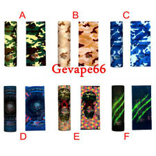 60PCS 20700 21700 Camo Battery Wraps Sleeves Cover Skins Battery Case