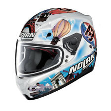 NOLAN Casco Integrale N60-5 GEMINI REPLICA 38 M. Melandri France - METAL WHITE