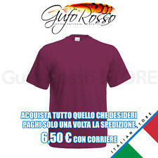 Fruit of the Loom 61-036-0 valueweight t - BORDEAUX Burgundy - T-Shirt M/C.