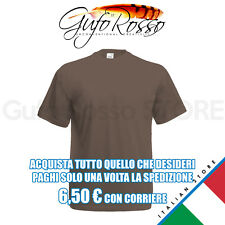 Fruit of the Loom 61-036-0 valueweight t - MARRONE Chocolate - T-Shirt M/C.