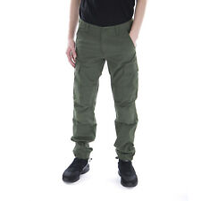 Carhartt Pantaloni Aviation Pant Rover Green Rinsed Verde