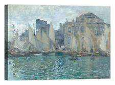Claude Monet The Museum at Le Havre Stampa su tela Canvas effetto dipinto