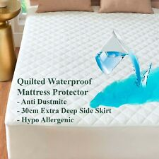 QUILTED & WATERPROOF PROTECTOR EXTRA DEEP MATTRESS COVER ALL SIZES AVAILABLE