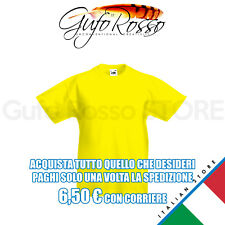 Fruit of the Loom 61-033-0 valueweight kid - GIALLO Yellow - T-Shirt M/C.
