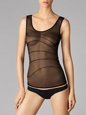 WOLFORD TUCK Top, transparent top en Doux Tulle , neuf emballage d'origine
