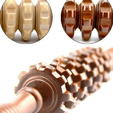 Wood Stick Massager Roller Body Muscle Physio Trigger Point Reflexology Tool FO