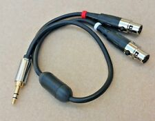 1'ft-25FT 3.5mm Stereo to 2 Mini XLR 3-Pin Female L-R Mic Y-Splitter Cable