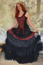 gotico punk gonna in toulle TULLE EXTREME Tartan visual kei 36 38 40 42 44 46