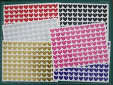126 VINYL HEART STICKERS 24 X 21MM VALENTINES MOTHERS DAY WEDDING ENGAGEMENT