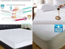 100% Waterproof Mattress Protector Terry Towel Single Small Double Super King