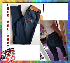 Anna Jeans Womens Blue Low Rise Waist Ladies Stretchy Denim Jeans 50% discount