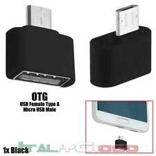 Mini Adattatore Adapter OTG Male Micro a USB Female Dati Nero per Acer Coolpad